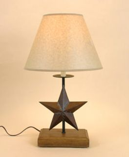 TEXAS STAR Americana WOODEN COUNTRY RUSTIC Table LAMP 21.5H
