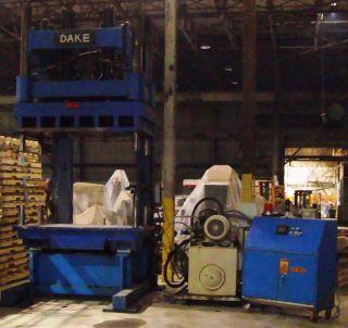 SLS1F54 Dake Amesbury 80 Ton C Frame Hydraulic Press 4 x 8 Table