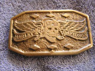 Vintage Aminco Harley Davidson Belt Buckle Brass