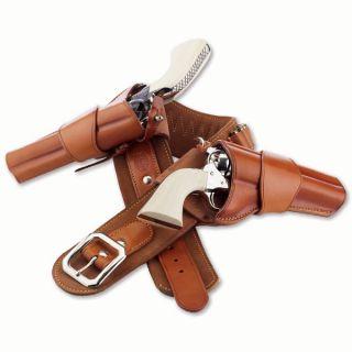 42 Galco Dukes Rig Western Style Gun 44 45 Ammo Cartridge Belt
