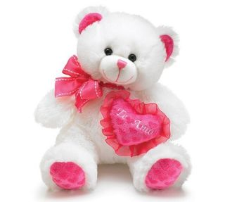 Mattie TE AMO Pink Heart Bear Plush Stuffed Animal 10 Valentine Love