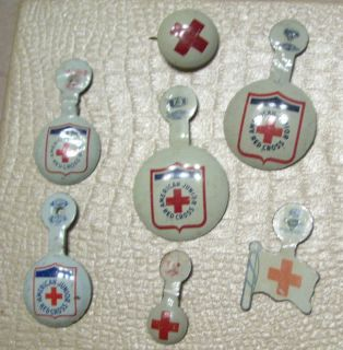 Vintage American Junior Red Cross Pins 3 Red Cross