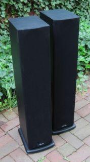 POLK AUDIO R 40 R40 MONITOR TOWER SPEAKERS HOME AUDIO THEATER BLACK