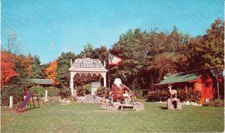 1950s Catskill NY Rip Van Winkle Park Cabins Postcard