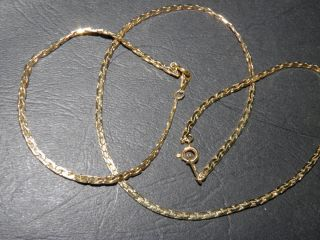 Vintage Signed Amway Demi Herringbone Chain Necklace and Bracelet