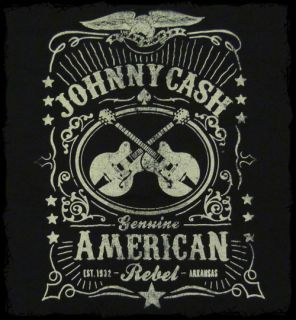 Johnny Cash   American Rebel whiskey label t shirt   Official   FAST