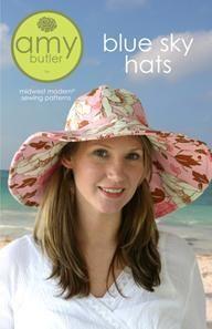 Amy Butler Sewing Pattern Blue Sky Hats Sun Cap NIP F S