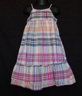 Baby Gap Girl Flower Child Pink Plaid Summer Dress Size 3T Kids
