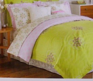 Amy Butler Modena Green Duvet Cover Twin Organic Cotton 300 Thread