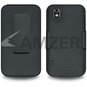 Amzer Shellster Fit Case Cover For LG Marquee LS855 / LG Optimus black