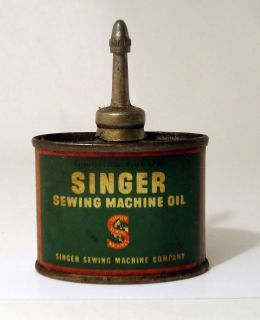 VTG SINGER SEWING MACHINE OIL CAN SMALL 1 3 FL OZ