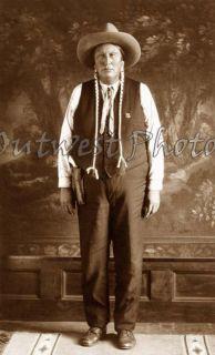 1900s Photo Apache Ben Deputy Sheriff Oklahoma Indian Native