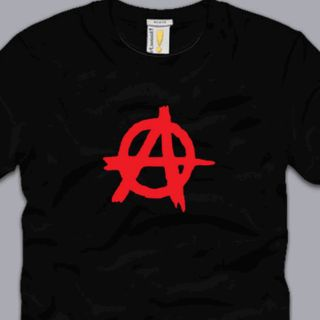 Anarchy T Shirt Punk Anarchist Government Tee Emo Revolution Political