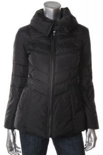 Andrew Marc New Black Down Seamed Zip Front Coat Petites PXS BHFO