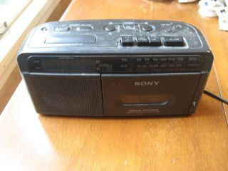 Sony Dream Machine AM FM Cassette Tape with Clock and Radio and
