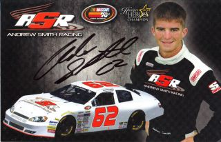 2011 Andrew Smith Signed 62 NASCAR K N Pro Series Postcard