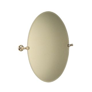 Allen + Roth Andrews Polished Nickel Frameless Oval Mirror w/ beveled