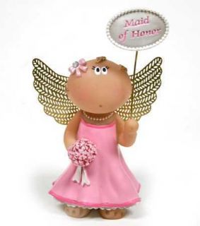 Angel Cheeks Wedding Maid of Honor Figurine Russ Berrie