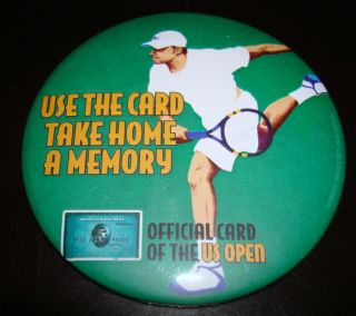 2004 US Open American Express Card Andy Roddick Large Metal Round Pin