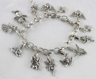 Pcs Tibetan Silver Angel Fairy Charm Bracelets
