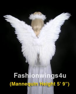 White Feather Wings Adult Fairy Angel Butterfly Costume