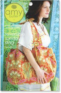 Amy Butler Reversible Sunday Sling Purse Tote Handbag Sewing Pattern