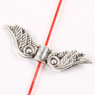 80pcs Tibetan Silver Angel Wings Spacer Beads Lovely