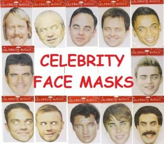 Celebrity Fancy Dress Face Mask Party Eye Famous Choice Novelty Fun