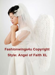 White XL Feather Angel Wings Archangel Dove Wedding Portrait Glamour