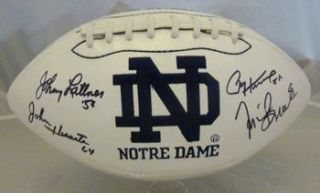 Notre Dame Fighting Irish Signed Heisman Football Lattner Huarte