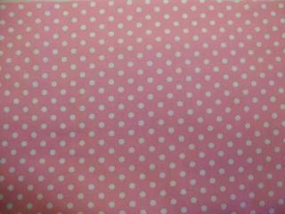 Michael Miller Dumb Polka Dot Pink White Fabric Yd