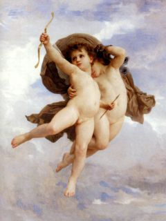 Angels Cupid Love by w Bouguereau Canvas Repro Medium