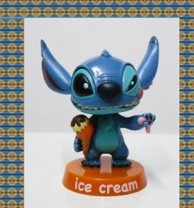Disney Lilo and Stitch Cute Bobblehead Figure Ice Cream
