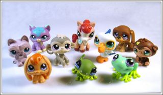 10 Littlest Pet Shop LPS Girl Toy Animal Figures Child Girl Xmas PS20