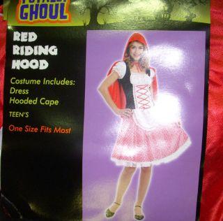 Red Riding Hood Dress Halloween Costume Junior 3 5 NWT