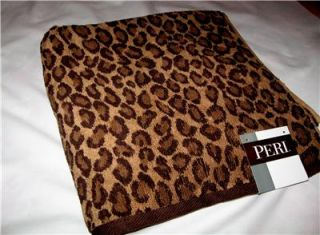 18 Piec Bath Rug Set Brown Leopard Animal Print Rugs