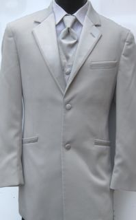 Platinum Andrew Fezza Monaco Two Button Tuxedo Package Silver Prom