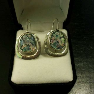 Genuine Israeli Jewelry 925 Sterling Ancient Roman Glass