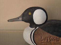 Joseph Anderlik Hand Carved Painted Male Hooded Merganser Duck Decoy