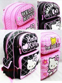 Full Size Anime Hello Kitty Bookbag Backpack Shoulder School Bag 16