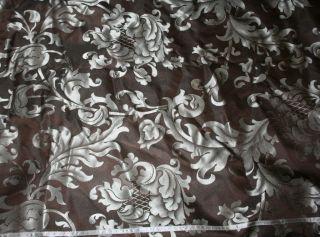 Charter Club Anjou Full Queen Duvet Cover Dark Brown Aqua Blue Floral