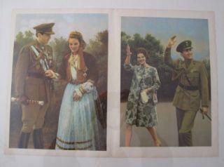 Greece King Constantinos Queen Anna Maria Poster 35x50cm 20x14