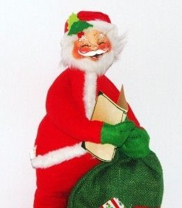 Annalee Santa Good Boys Girls Book Bag Doll Figure