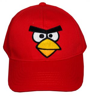 Angry Birds Robio Red Bird Face Video Game Adjustable Toddler Baseball