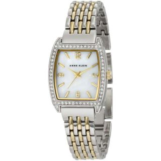 Anne Klein 10 9727MPTT Womens Swarovski Crystals Two Tone Gold Plated