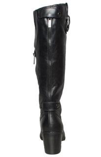 Anne Klein Womens Boots Brenton Black Leather Sz 6 5 M