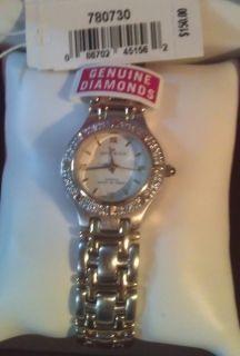 Anne Klein Womens Diamond Watch Never Worn Gold Silver Designer Watch
