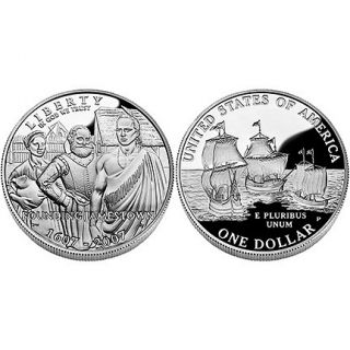 2007 Jamestown 400th Anniversary Proof Silver Coin