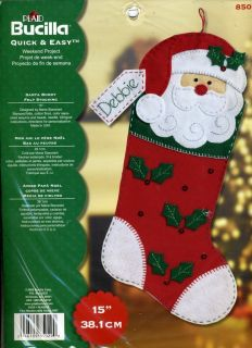 Santa Buddy Felt Stocking Kit Quick Easy Weekend Project NEW