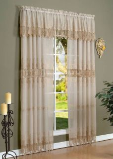 Anna Maria Embroidered Sheers Curtain Curtains Pairs